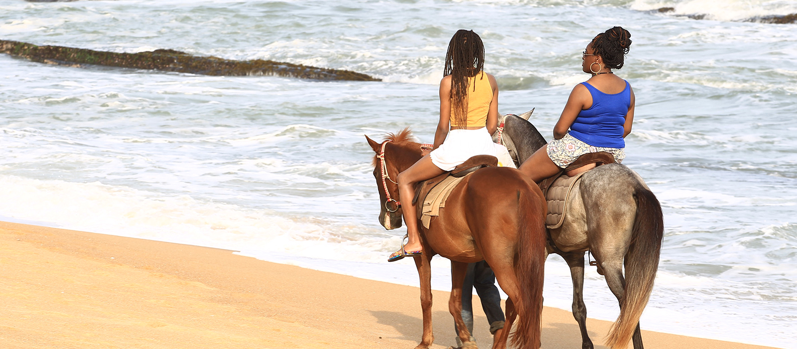 Horse Riding in Beach Resort